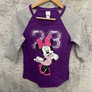 Disney Minnie Mouse 3/4 Sleeve
